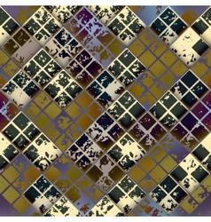 Grunge diagonal mosaic tile vector