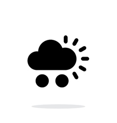 Hail weather simple icon on white background vector