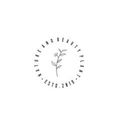 hand drawn flower logo designs vector image