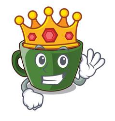 King indian masala tea isolated on mascot vector