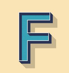 letter f retro text style fonts concept vector image
