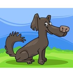 Little shaggy dog cartoon vector