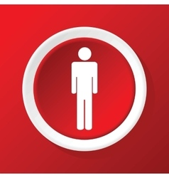 Man icon on red vector image