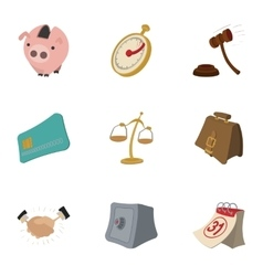 Marketing icons set cartoon style vector image