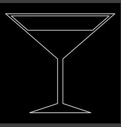 Martini glass the white path icon vector