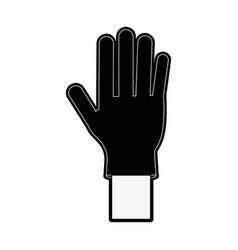 medical latex glove vector image
