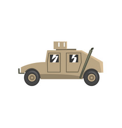 military vehicle army machine heavy special vector image
