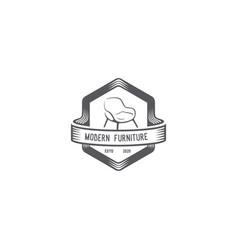modern furniture emblem vector image