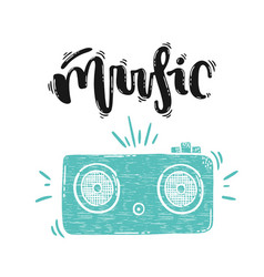 music lettering vector image