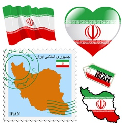 national colours of Iran vector image
