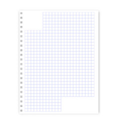 notepad sheet in a cage vector image