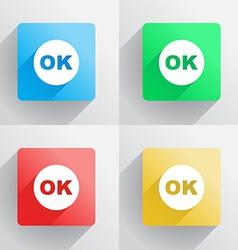 OK button vector image