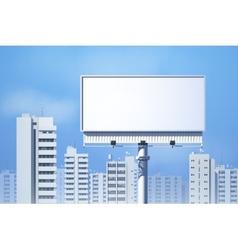 Outdoor Billboard Realistic vector image