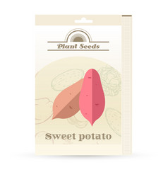 pack of sweet potato seeds vector image