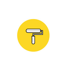 paint roller icon flat design style vector image