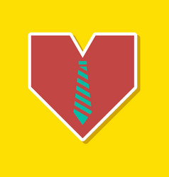 Paper sticker on stylish background of gays heart vector