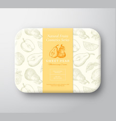 Pear bath cosmetics package box abstract vector