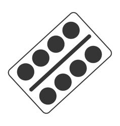 Pill pack medicine icon graphic vector