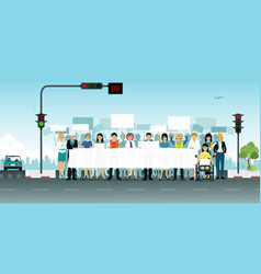 protest off the road vector image