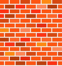 Seamless Bricks Background - Red and Orange Brick vector