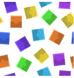 set of colored condoms vector image