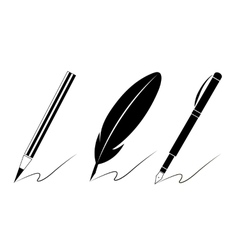 Set of pen icons vector