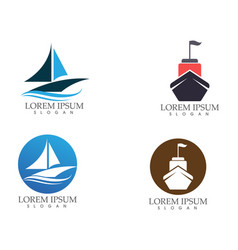 ship filled outline icon transport and boat image vector image