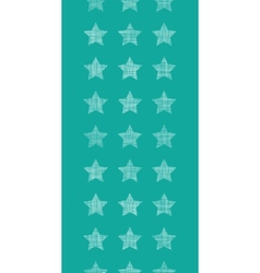 Stars textile textured green vertical seamless vector image