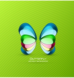 Stone butterfly vector