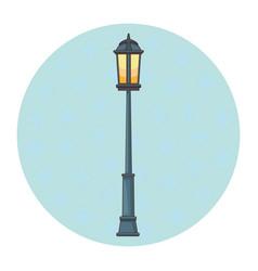Streetlight cartoon isolated vector