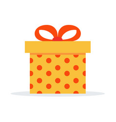Surprise gift box in icon in white background vector