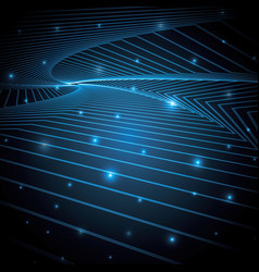 Technology abstract star geometric line art vector