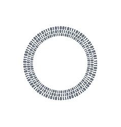 three circles binary circuits future technology vector image