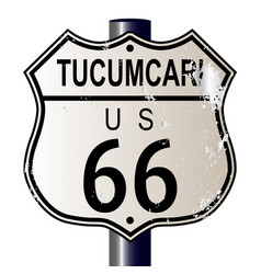 Tucumcari route 66 sign vector