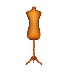 vintage dress form in wooden design vector image