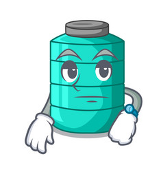 Waiting cartoon water tank for in agriculture vector
