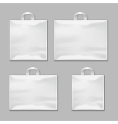 white empty reusable plastic shopping bags vector image