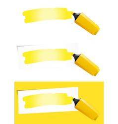 Yellow felt tip pen vector