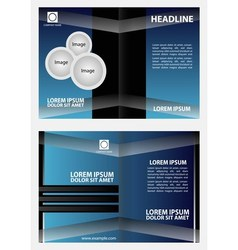 Brochure design template abstract vector image