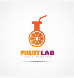 Fruit lab logo vector