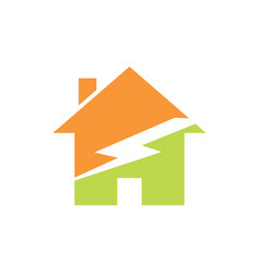green home energy logo vector image