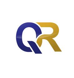 qr letter logo vector image