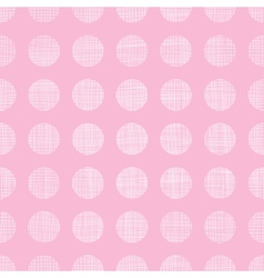 Abstract pink textile dots seamless pattern vector image