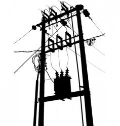electric transformer substation vector image vector image
