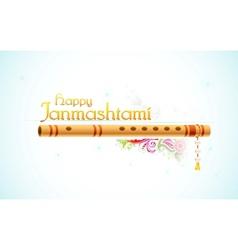 Happy Janmasthami vector image