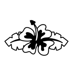 hawaii cute flower icon vector image