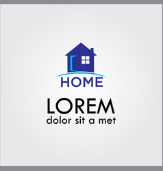 home building logo vector image