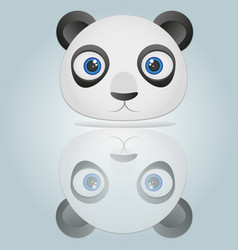 panda head isolated on blue background vector image
