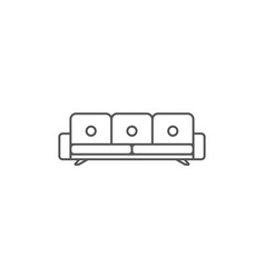 sofa isolated icon in linear style vector image vector image