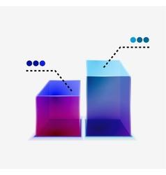 3d glass graph vector image